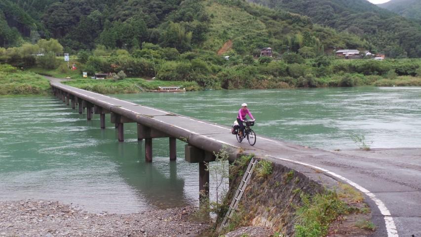 Submersible Bridges in Shimanto