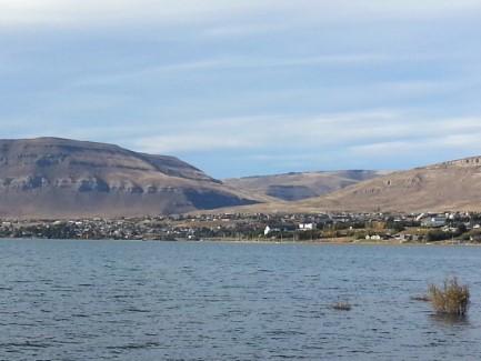 El Chalten from the lagoo
