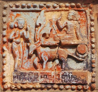 One of the few surviving exterior  temple reliefs