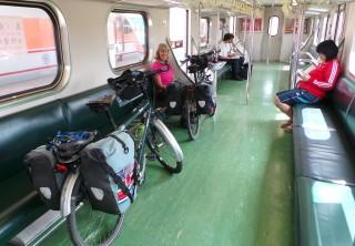Train carriage leaving Yilan