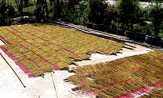 Drying_incense_sticks