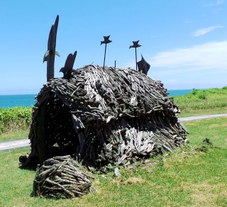 Roadside sculpture, made from driftwood