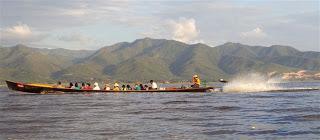 Inle lake passenger boat