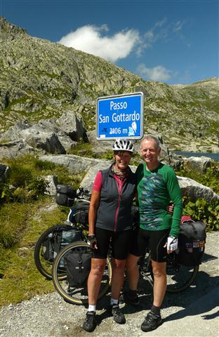 Karen and Steve Gotthard Pass