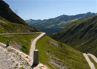 Old Road down Gotthard Pass