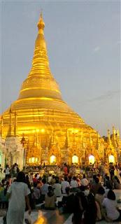 Stupa by night