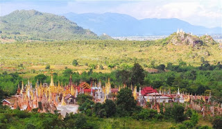 View from the hill over Shwe Inn Thein