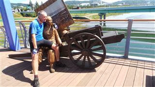 Sculpture on Cycle Bridge