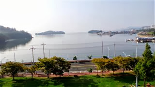 The view from our hotel in Yeosu