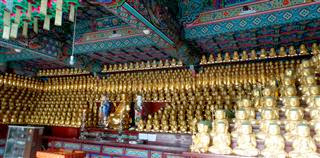 Unju Sa Golden Buddhas