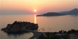 Sveti Stefan Sunset