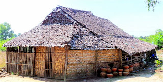 Traditional leaf thatched building