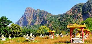 Mt Zwegabin and 1,000 Buddhas