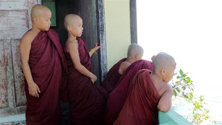Young monks at the mountain top