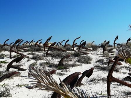 Anchor Graveyard at Praia do Baril