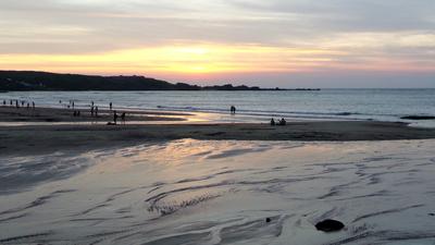 Sunset at Baija Beach