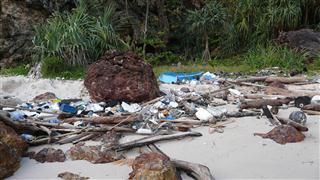 Rubbish on Beach at Ko Kradan