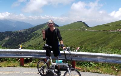 Guy on Folding Bike