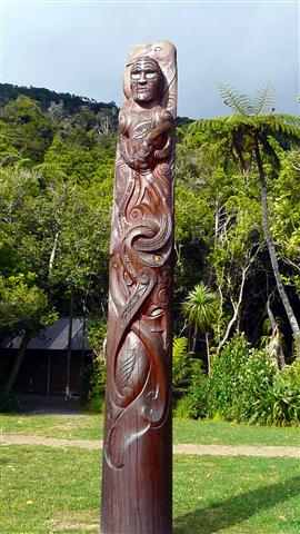 Ship Cove Maori Carving