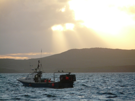 Sunset Over Mull Of Kintyre