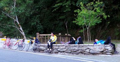 Taroko Gorge Tired Cyclists