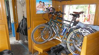 Bikes on Train to Bangkok