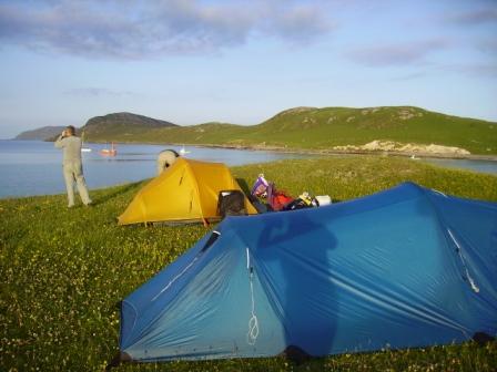Camping at Eriskay