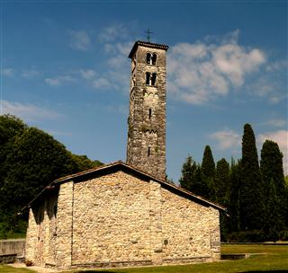 Church With Leaning Tower