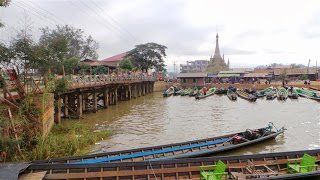 Nyaungshwe bridge and canal