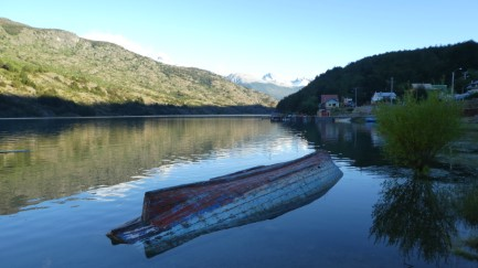 Dusk at Puerto Bertrand
