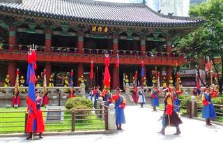 Palace Guards at the gatehouse