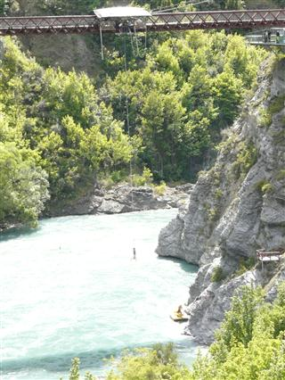 Bungy Jumping on the Gibston River