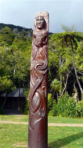 Ship Cove Maori Carving